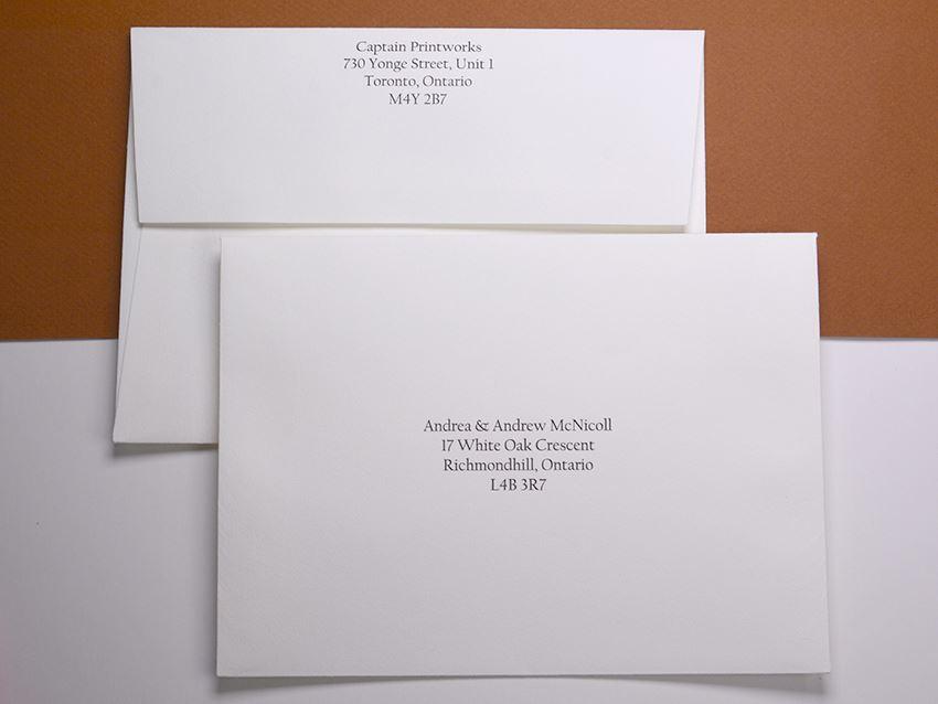 Invitations Letterpress Captain Print