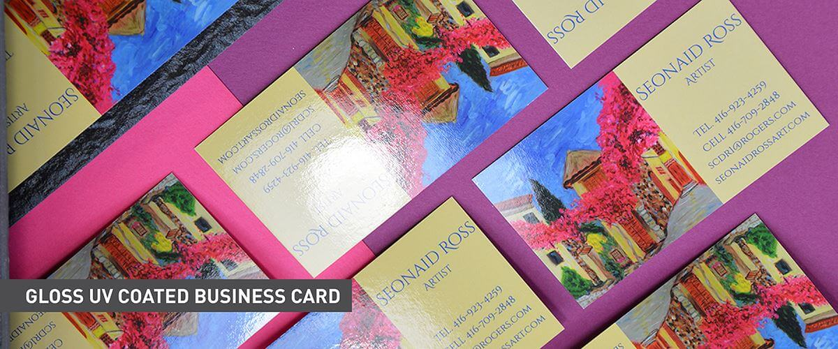 Classic Business Cards - UV Coated