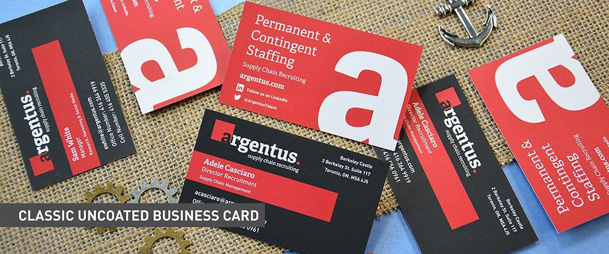 Classic Business Cards - Uncoated