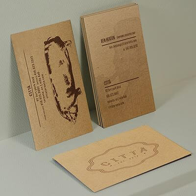 environment kraft business cards - Kraft Business Cards