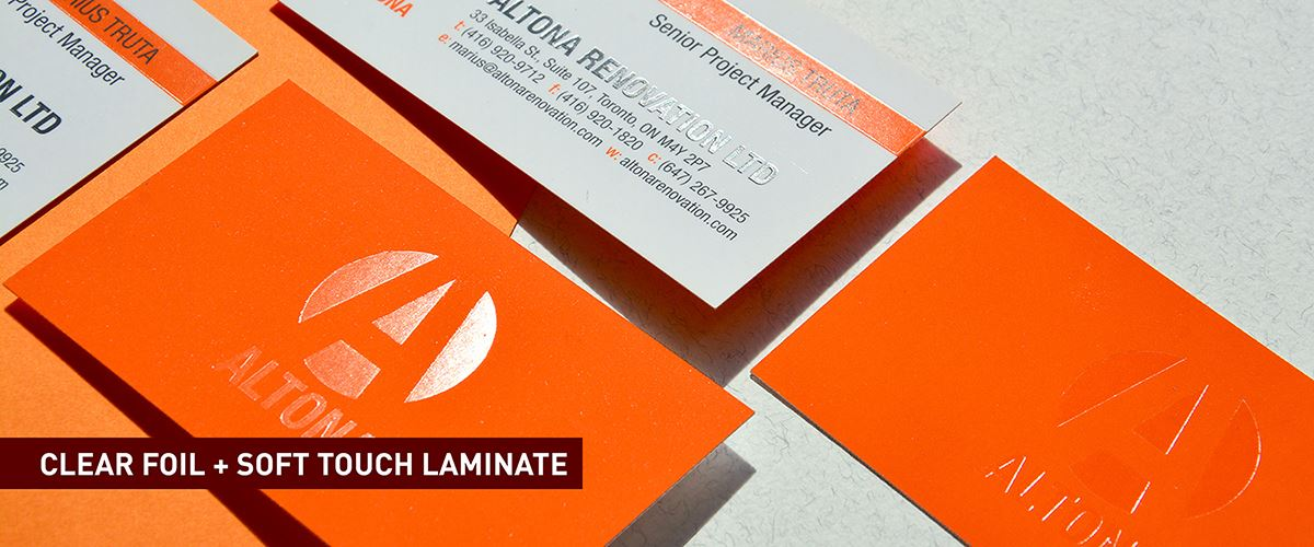 Foil Business Cards - Clear - Laminate