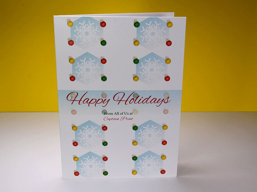 Greeting Card - Christmas Ornaments 01