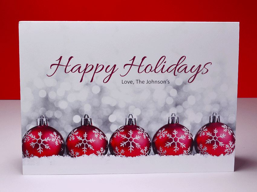 Greeting Card - Christmas Ornaments 04