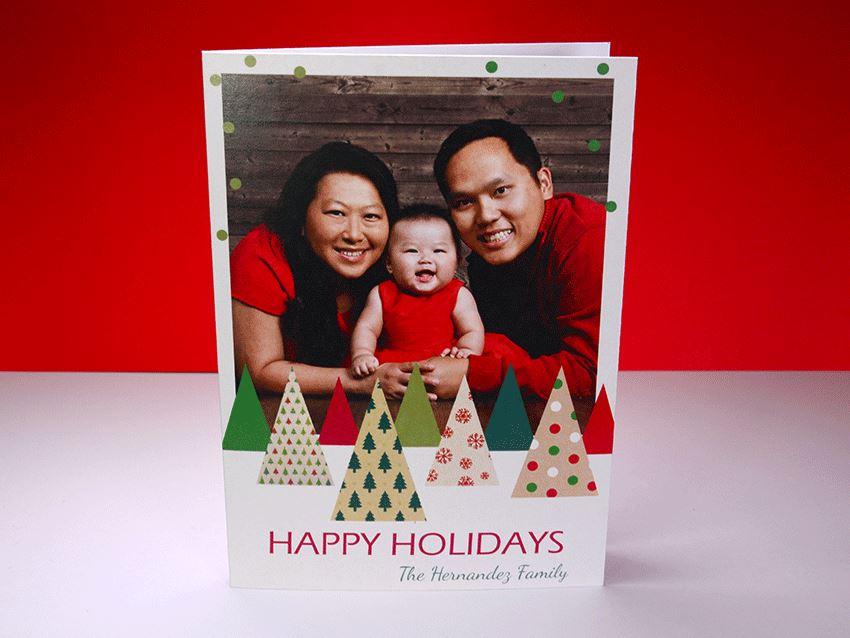 Greeting Card - Christmas Trees 01