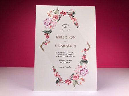 Invitation - Diamond Flower 01
