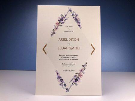 Invitation - Diamond Flower 03