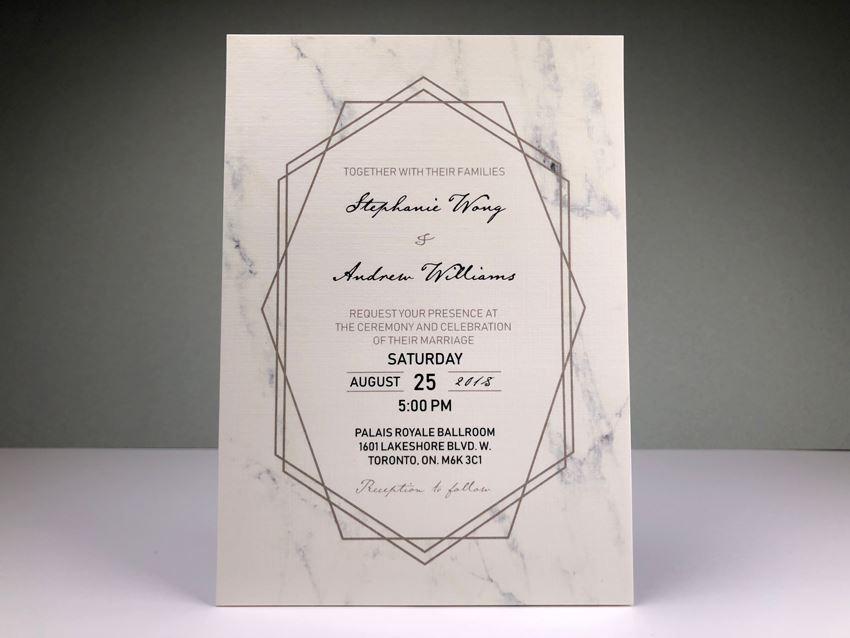 Invitation - Marble 01