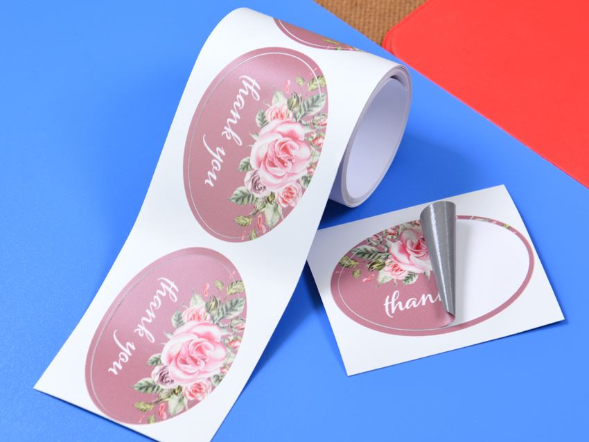 Oval Paper Roll Labels