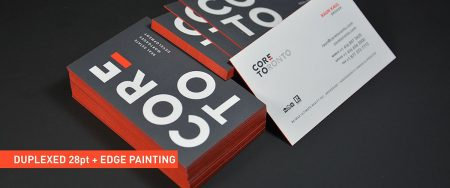 Soft Touch Business Cards - Duplexd - Edge-painted