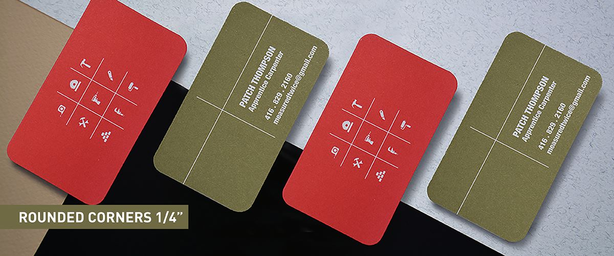 Soft Touch Business Cards - Rounded Corner