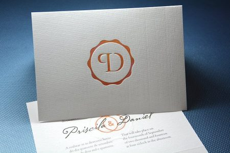 Debossed Wedding Card