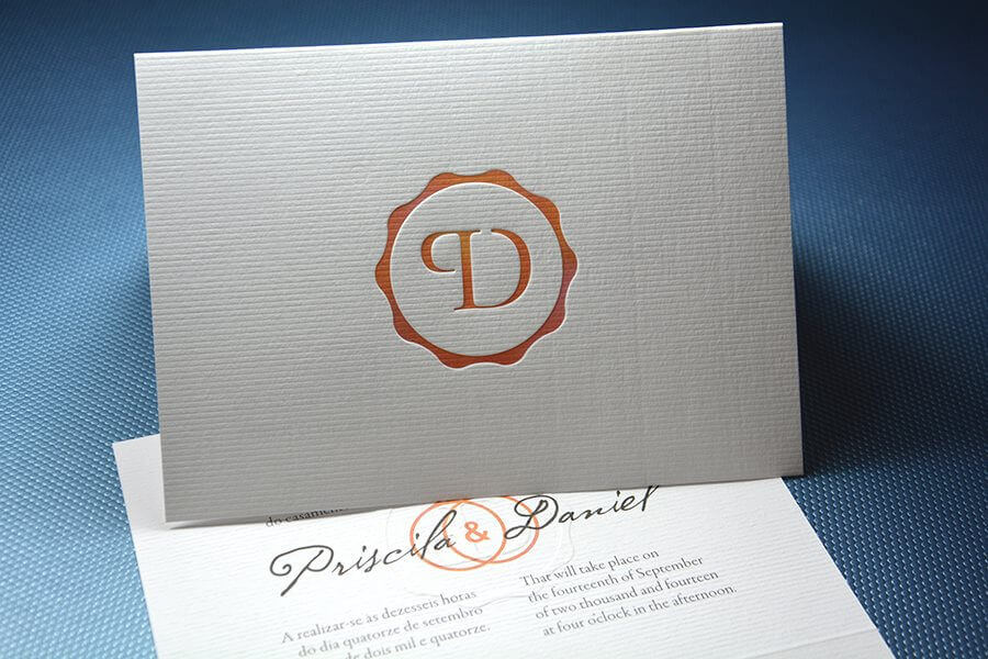 Debossed Wedding Card