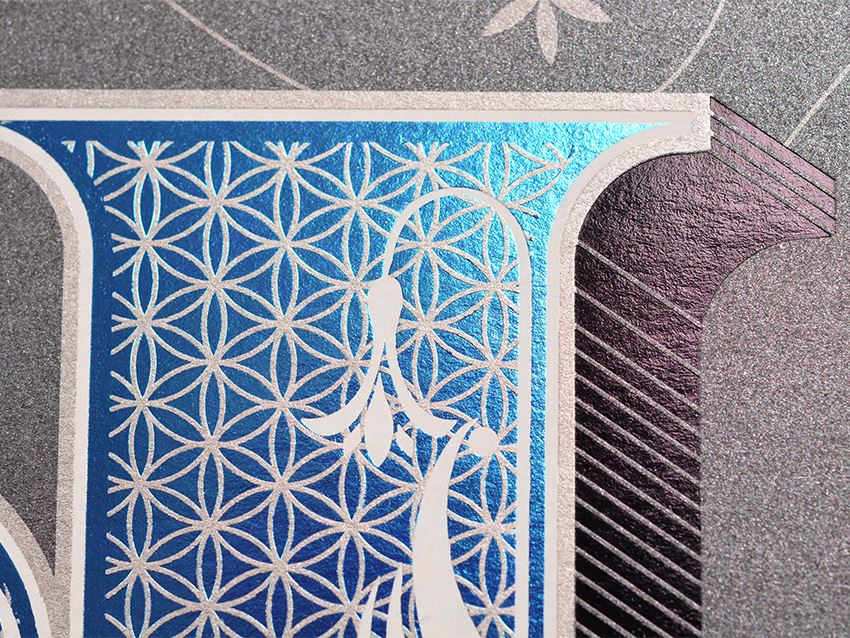 Black-White-Blue Foil - Detail