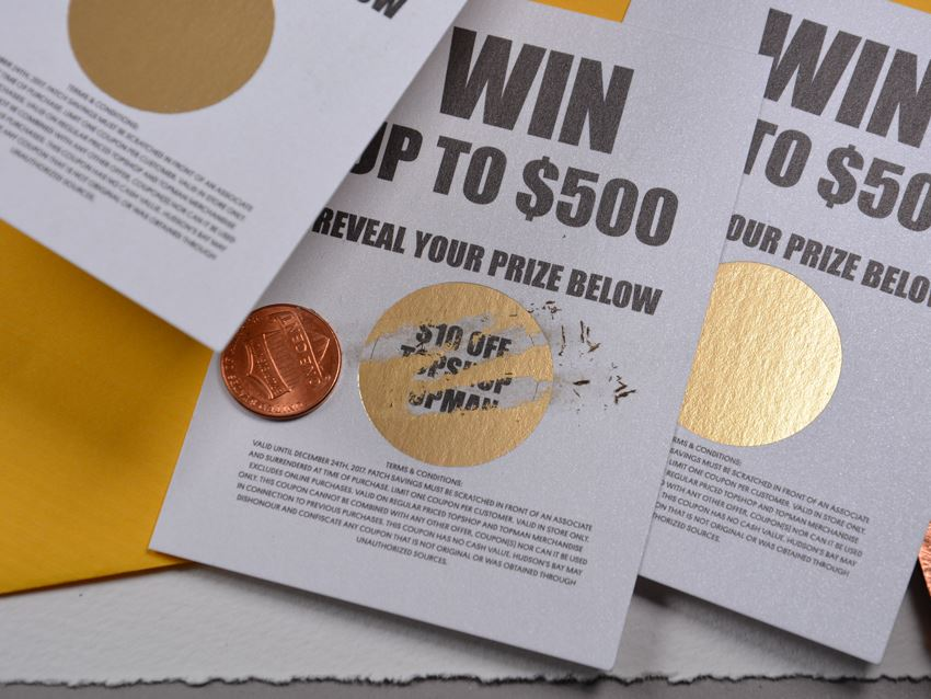 Gold Scratch-off Foil