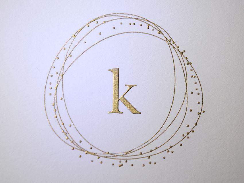 Burnished Gold Engraving