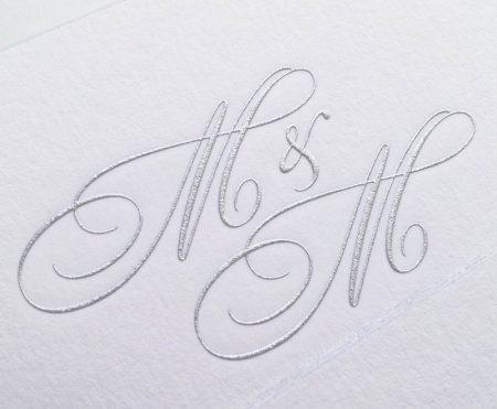Burnished-silver Engrave