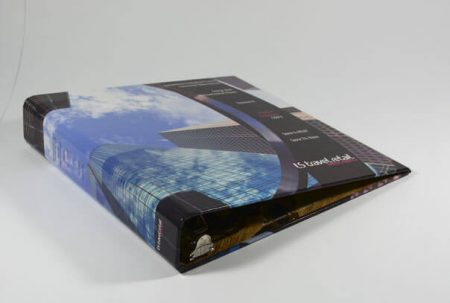 Offset printed hard-cover Binder